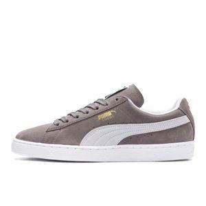 Gray suede puma shoes